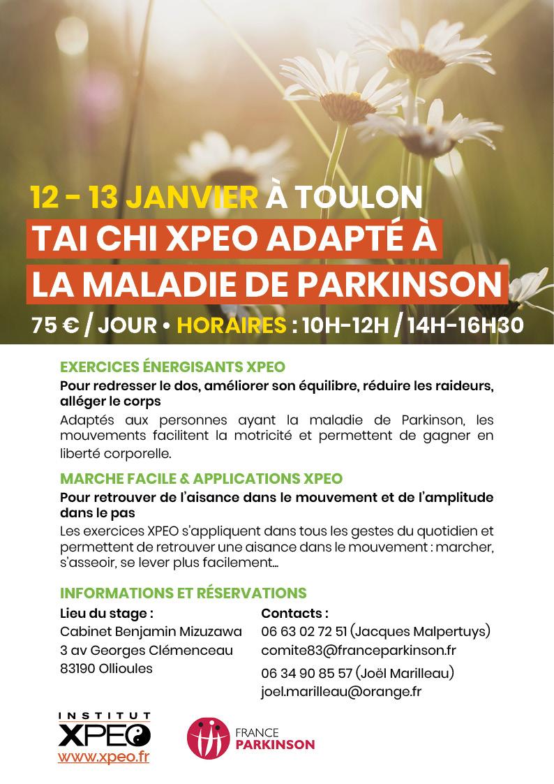 Tai chi XPEO adapté à la maladie de Parkinson (Toulon)