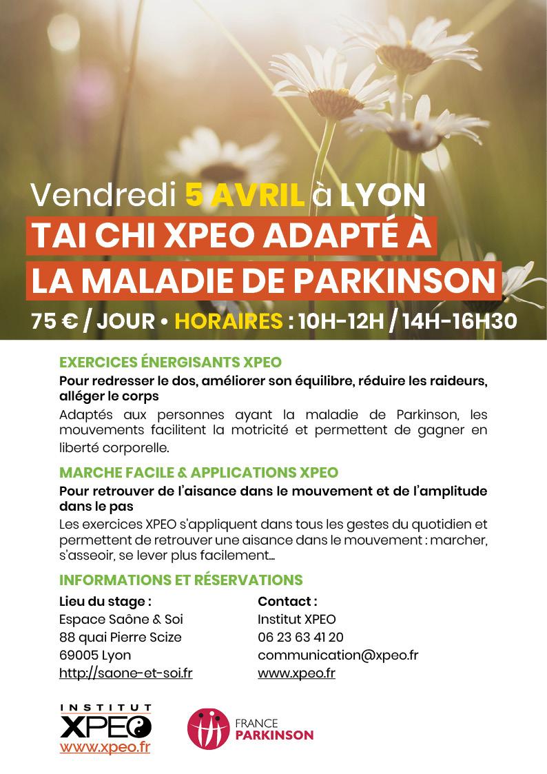 Tai chi XPEO adapté à la maladie de Parkinson (Lyon)