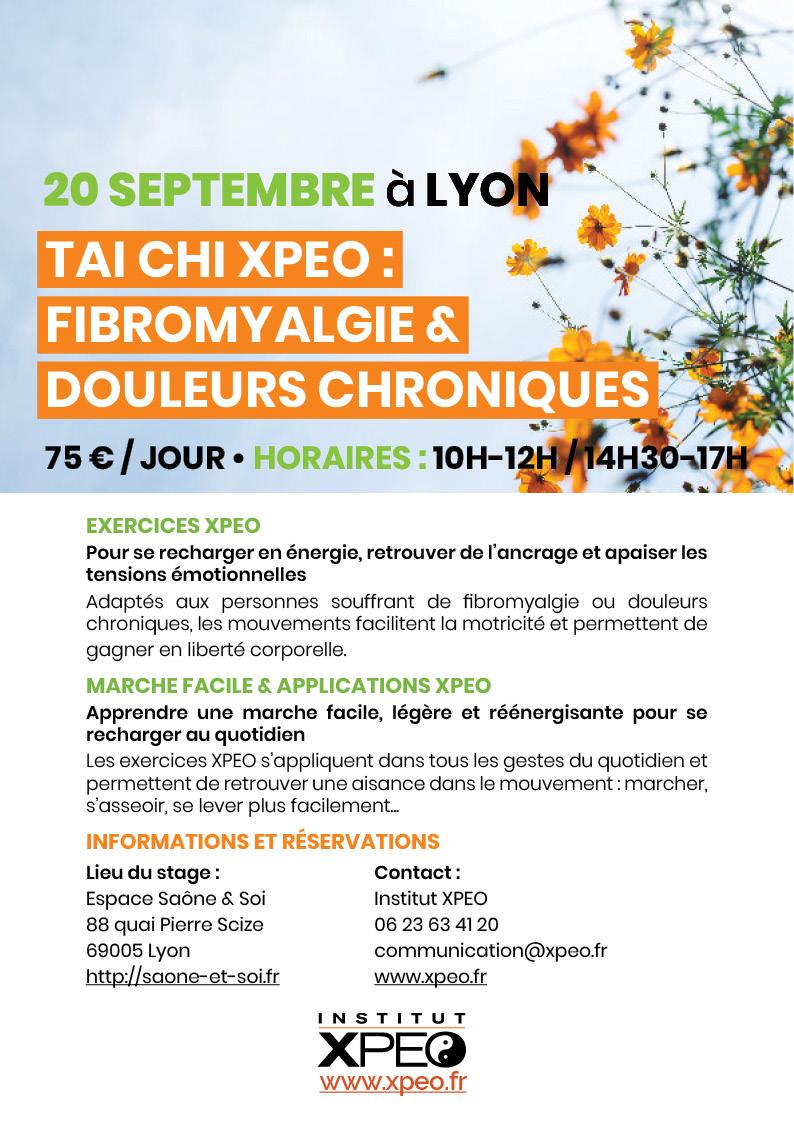 Tai chi XPEO : fibromyalgie et douleurs chroniques (Lyon)
